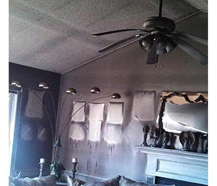 Fire Damage in San Antonio, Texas Before