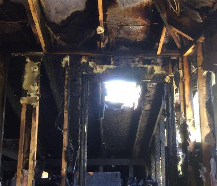 Lightning Strike That Caused Fire Damage to House in San Antonio, Texas